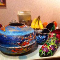 chaussures fleurs et papillons